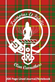 Clan Carruthers 200 Page Lined Journal/Notebook