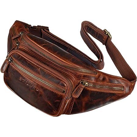 Leder Gürteltasche Bauchtasche Tasche Hüfttasche Schlüsseltasche braun