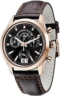 Zeno - Watch Reloj Mujer - Gentleman Cronógrafo Big Date Q Gold Plated - 6662-8040Q-Pgr-f1