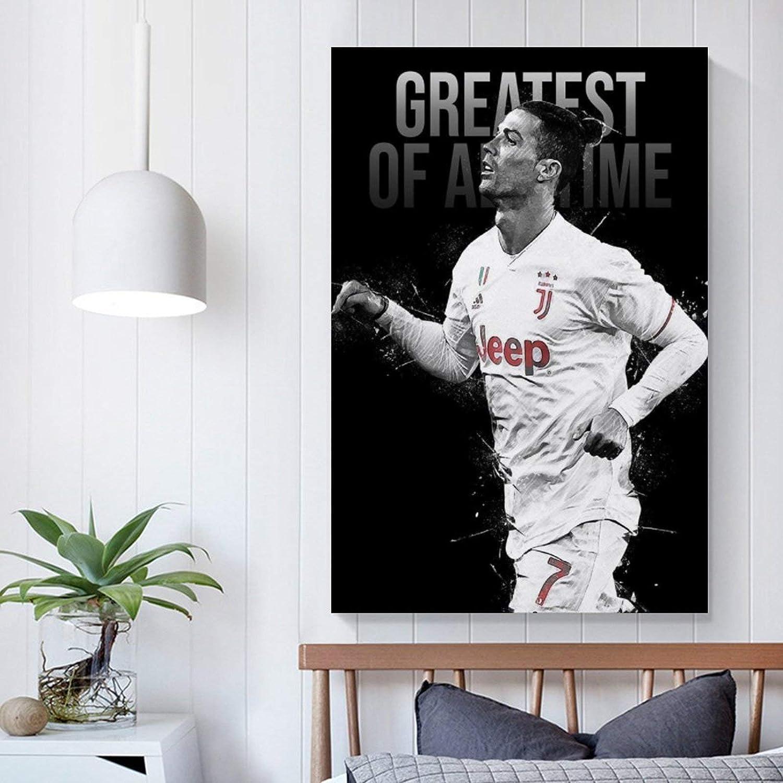 Schlafzimmer ASFDA Fu/ßballspieler Cristiano Ronaldo Sportposter dekoratives Gem/älde Wohnzimmer 50 x 75 cm Poster Malerei Leinwand Wandkunst
