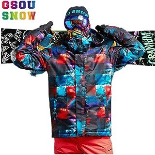 GSOU Snow Men Mountain Skiing Snowboard Jacket Winter Outdoor Sport Snow Coat
