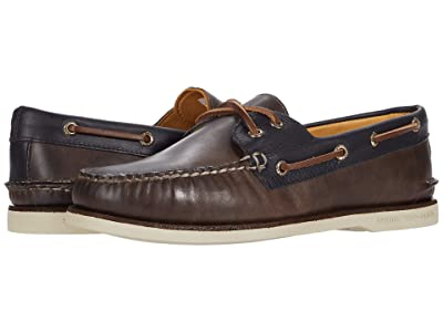 Sperry Gold Cup A/O 2-Eye Camden (Fossil/Blue) Men