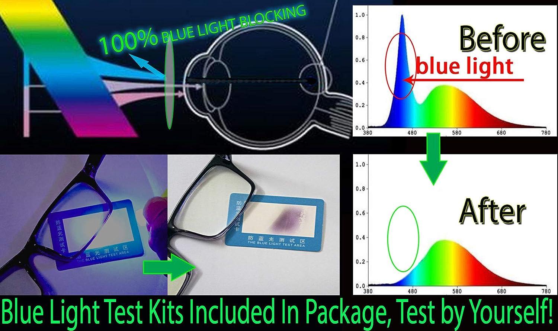 Computer Blue Light Uv Block Glasses Men Semi Rimless Metal Frame Eye Strain Gaming Glasses Gamer Screen Blocker Half Rim