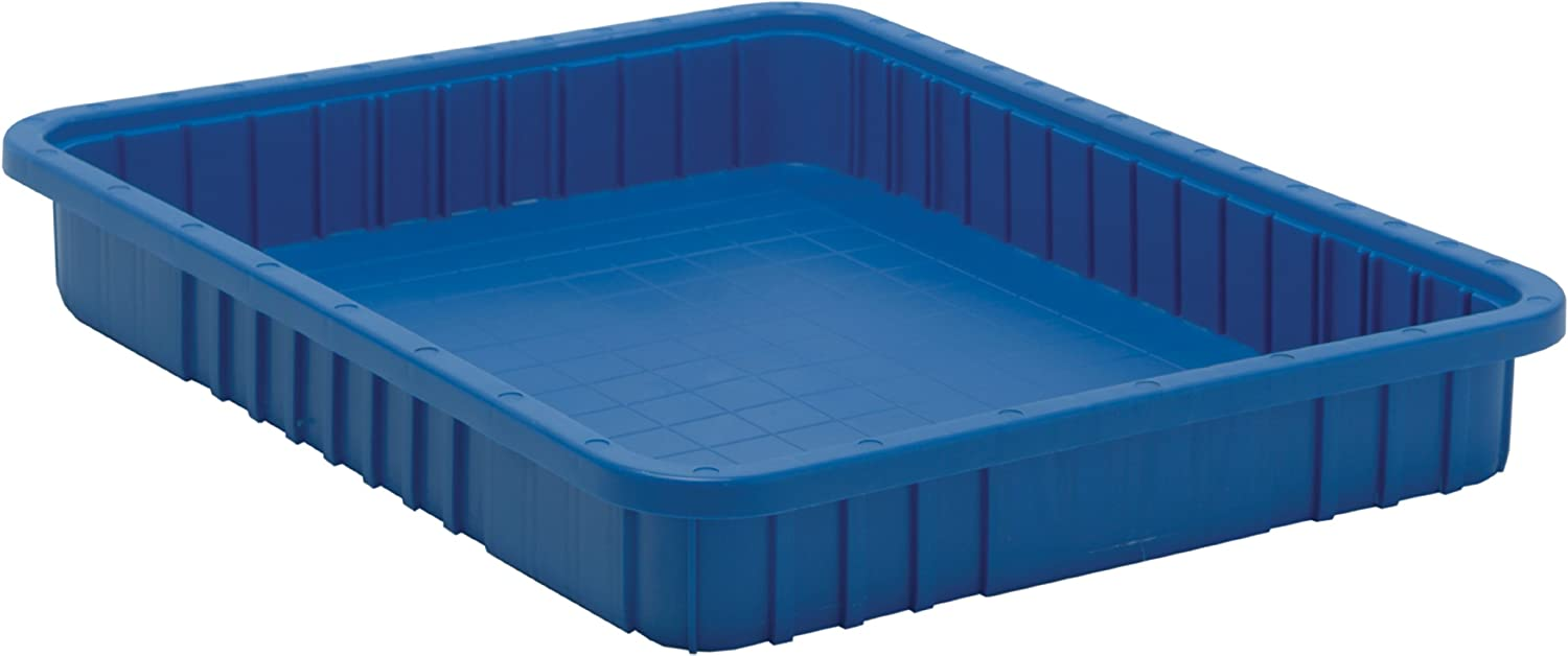 Quantum Storage DG93030BL Dividable Grid Storage Container, 22-1 2  L x 17-1 2  W x 3 H, bluee (Pack of 6)