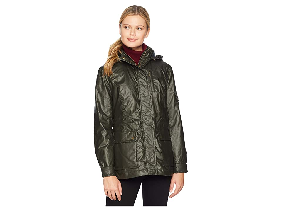 Pendleton Waxed Cotton Hooded Zip Front Jacket (Olive 1) Women