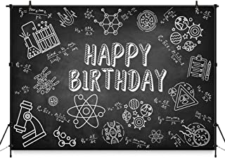 COMOPHOTO Science Party Background Banner Scientist Birthday Party Chemistry Theme Parties Decoration Photo Booth Backdrop 7x5ft Fun Design