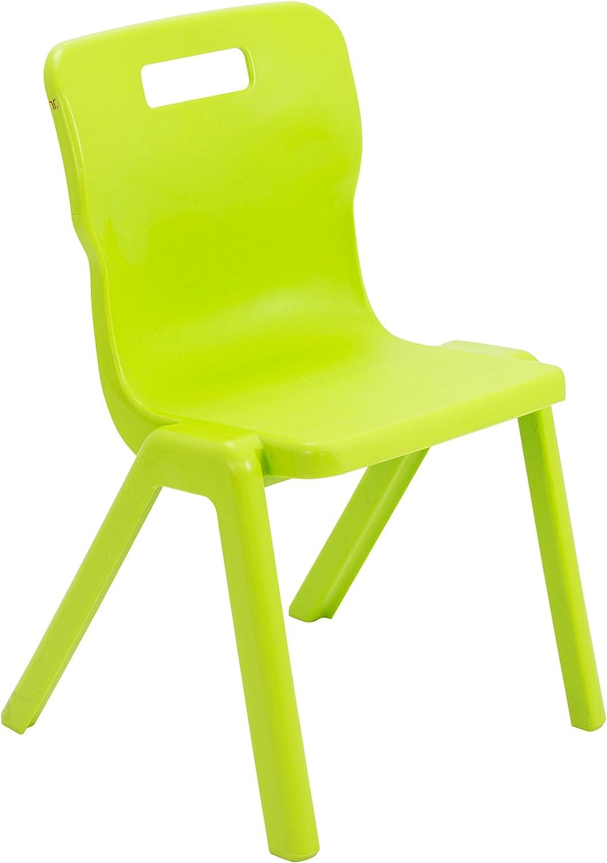 Silla de una Sola Pieza Titan Hecha de plástico, plástico, plástico, plástico, Lime verde, 8-9 años  ahorra hasta un 50%