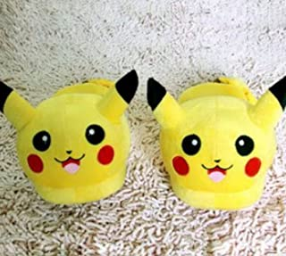 Pikachu Cotton Pp Slipper for Men and Women Yellow,size:5-7.5(us)