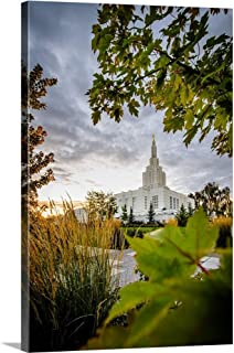 Gallery-Wrapped Canvas Entitled Idaho Falls Idaho Temple, Through The Trees, Idaho Falls, Idaho by Scott Jarvie 24