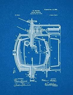 Coffee Roaster Patent Print Blueprint (5