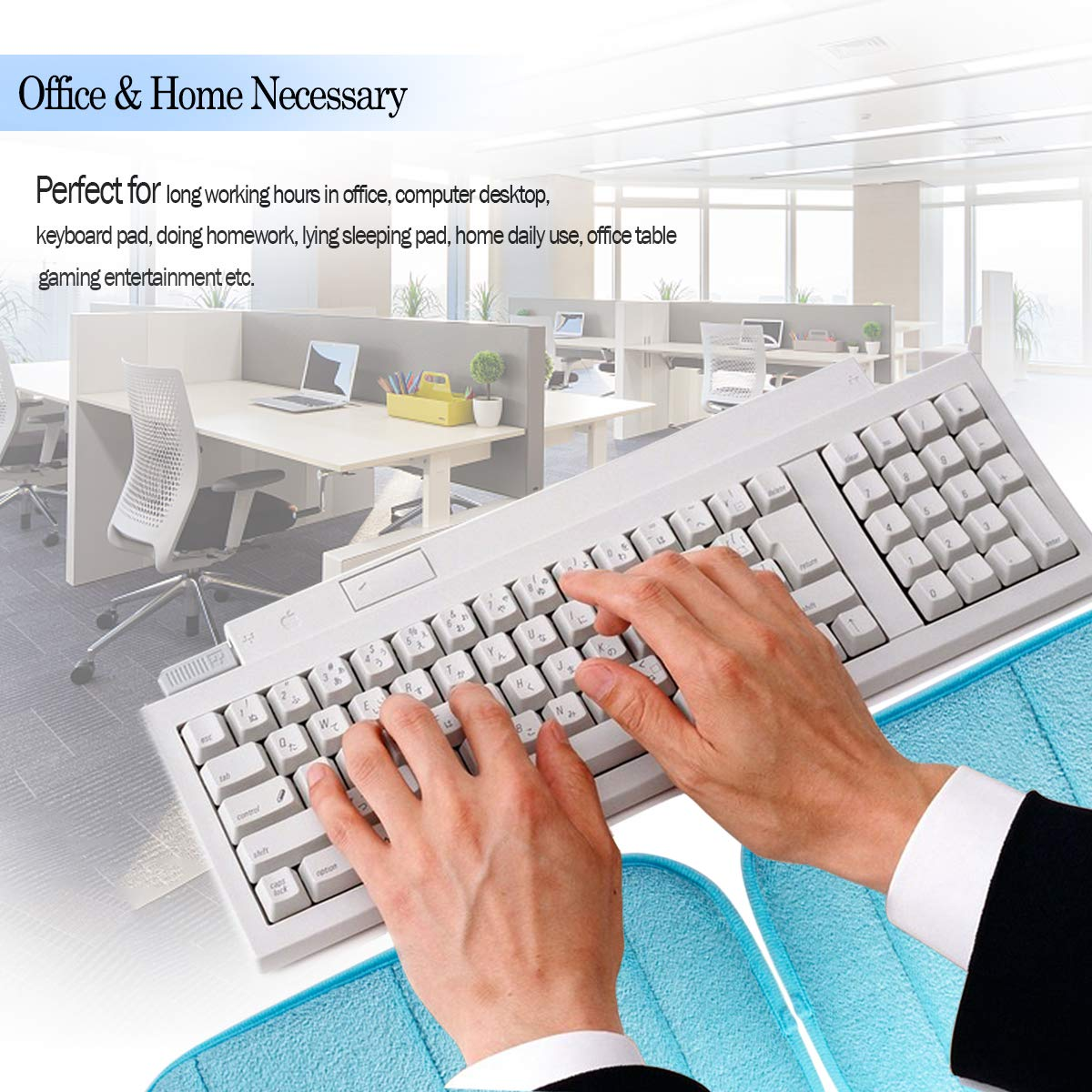 Blue Hatisan Premium Memory Cotton Desktop Keyboard Arm Rest Support Mat for Office Home Laptops 7.9 x 11.8 Inch More Comfort /& Less Strain 2 Pack Portable Computer Elbow Wrist Pad