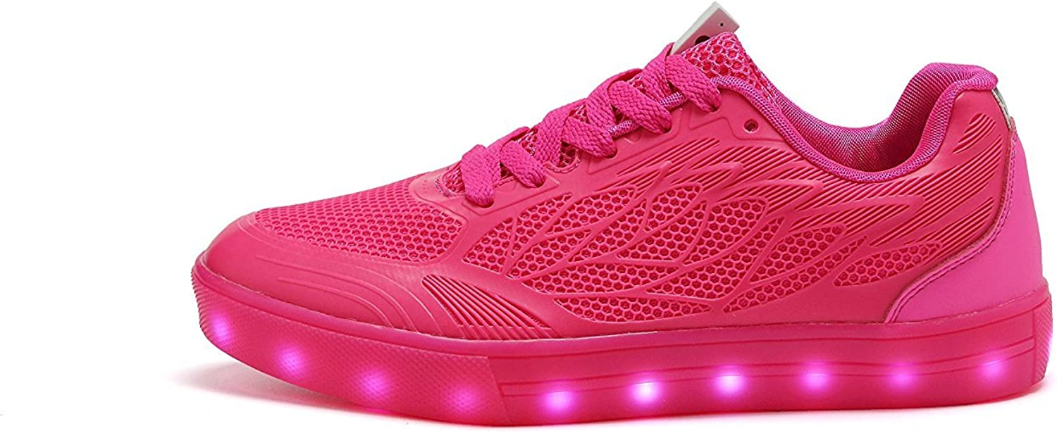 Believed Breathable LED Light Up shoes USB Charging 7-color Flashing Lightweight Sneakers for Women