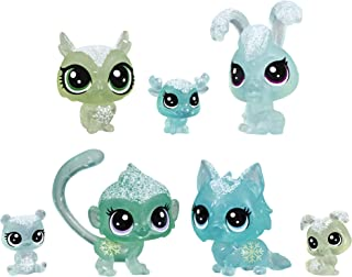 Littlest Pet Shop Frosted Wonderland Pet Friends Toy, Green Theme, Includes 7 Pets, Ages 4 & Up
