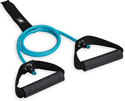 New Balance Resistance Band Door Anchor Attachment Home Gym System | Sure-Grip Textured Handle Exercise Fitness Workout Bands for Men