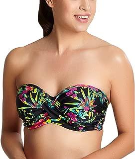 Panache Anya Print Underwire Twist Front Bandeau Bikini #SW1293