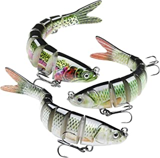 GOTOUR Bass Fishing Lures, Lifelike Multi Jointed...