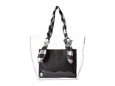 Loeffler Randall Lydia Tote (Clear/Black/Black) Tote Handbags