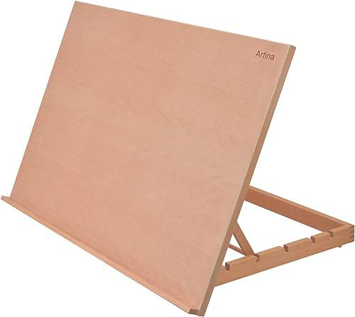 Artina Chevalet de Table Montpellier - Planche à Dessin – Petit chevalet en Bois de hêtre – Support de Toile 75x49cm ...