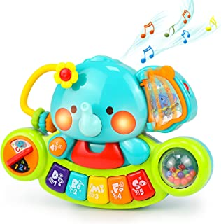 HOLA Baby Piano Toys Elephant Piano Keyboard Musical Learning Toys for Infant Baby 6 9 12 18 24 Months Educational Toy Gif...