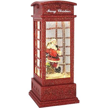 1Pc Christmas Telephone Booth Night Light Creative Night Lamp Adornment