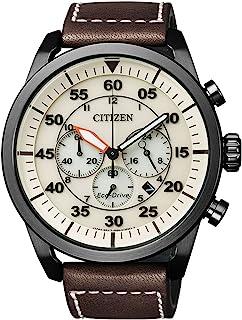 Citizen CA4215-04W - Cronografo XL da uomo al quarzo, cinturino in pelle