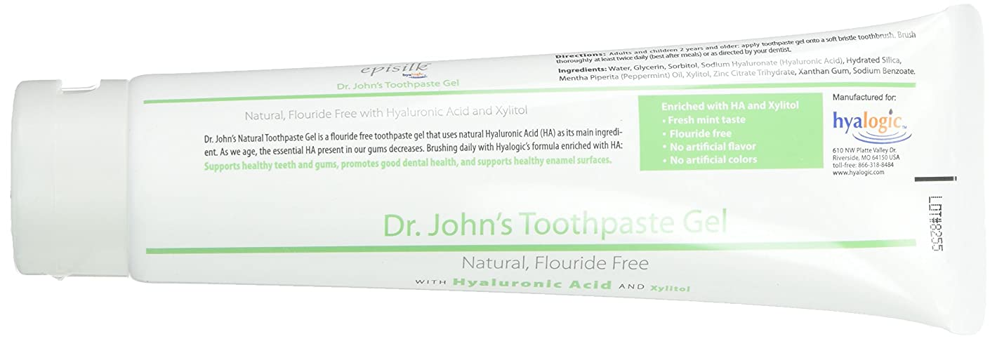 改善する入口難民Hyalogic, Dr. John's Toothpaste Gel w/HA 4.58 oz