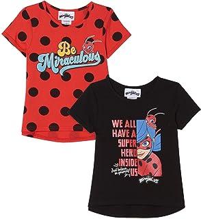 Miraculous Ladybug 2 Pack Short Sleeve Graphic T-Shirts