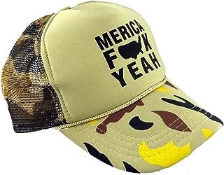 Merica FCK Yeah Trucker Hats - Adult - Unisex - Adjustable