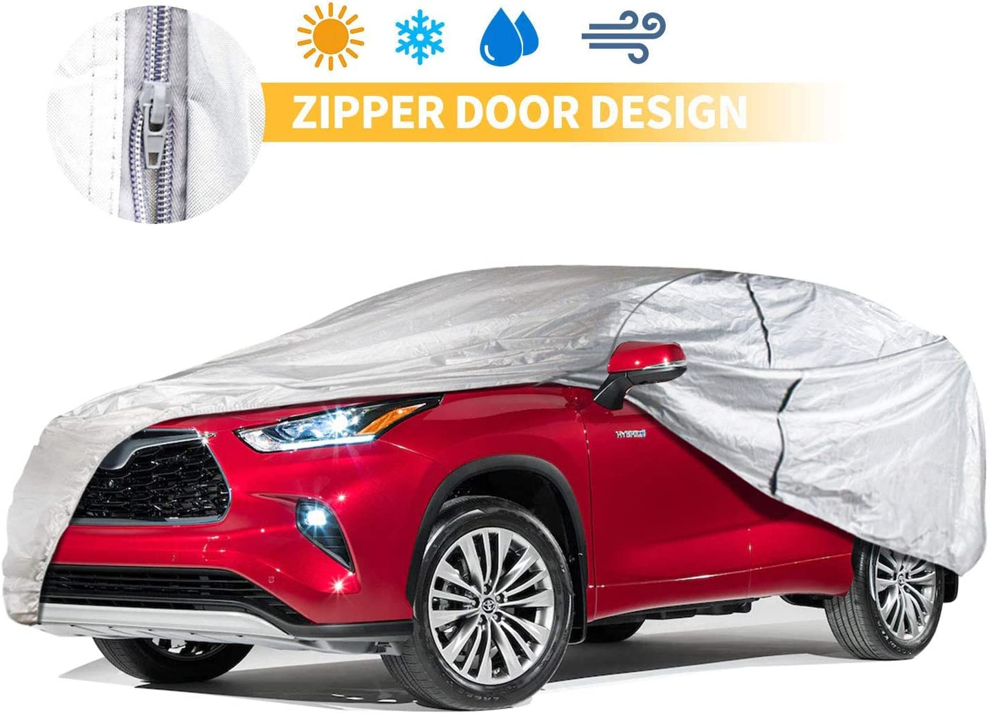 SUV Cover 249 Inch Popular shop is the lowest price challenge Universal UV Windroof Wa Inexpensive Protection Car