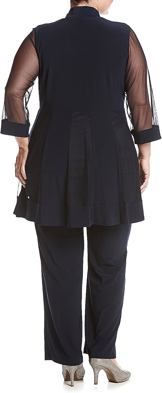 R&M Richards Women's Beaded Neck 2 Piece Pant Set