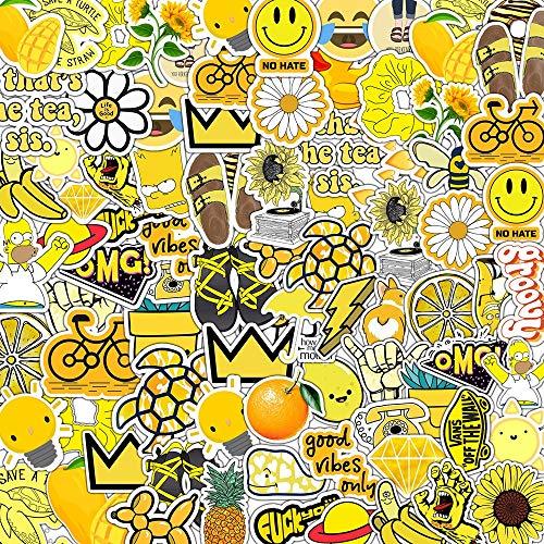 PMSMT 10/30/50 Uds Serie Amarilla Fresca y Linda abejita de Dibujos Animados Graffiti Maleta portátil teléfono móvil Etiqueta de la Caja al por Mayor