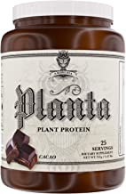 Ambrosia Planta - Premium Organic Plant-Based Protein | Vegan & Keto Friendly | Gourmet Flavors with No Bloating or Stomach Upset | Gluten & Soy Free | No Added Sugar | 25 Servings | Cacao