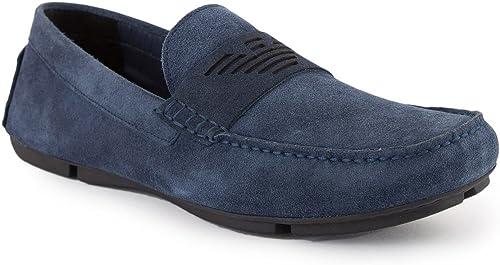 Emporio Armani Driving schuhe Herren Schuhe Blau
