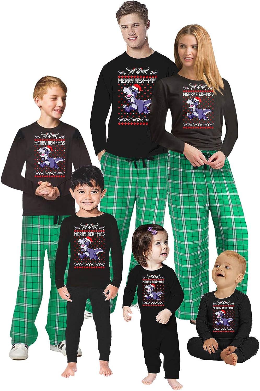 Awkward Styles Family Christmas Pajamas Set Merry Rexmas Green M Oklahoma City Mall Large special price !!