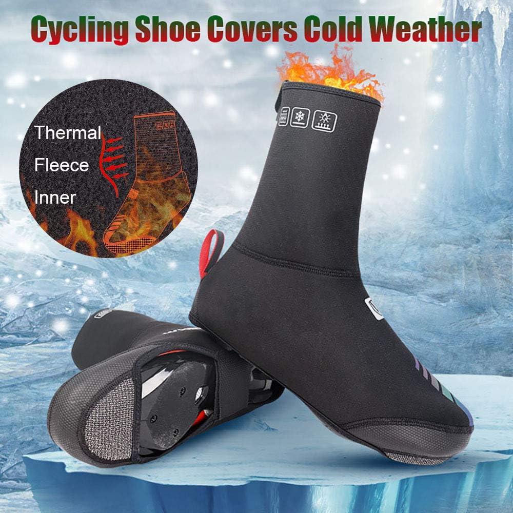 LXZH Cubrezapatillas De Ciclismo Clima Fr/ío Cubrezapatos De Ciclismo Impermeable Resistente Al Viento Invierno T/érmico Cubrezapatillas De Bicicleta Reflectantes Accesorios para Bicicleta