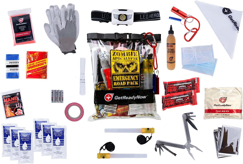 GetReadyNow Zombie Survival Kit Waterproof Clear Heavy Bombing free shipping Nashville-Davidson Mall Duty