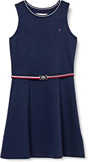 Tommy Hilfiger Girl's Punto Milano Skater Dress, Color:Twilight Navy, Size:6