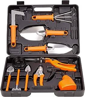 TOORGGOO Gardening Tools Set,12 Piece Stainless Steel Portable Gardening Tools Set Gifts for Men Women Gardener (orange121)
