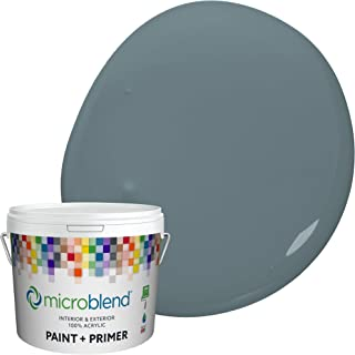Microblend Interior Paint and Primer - Slate/Porta Luca, Flat Sheen, 5-Gallon, Premium Quality, One Coat Hide, Low VOC, Wa...