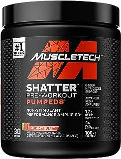 Pre Workout Powder + Nitric Oxide Booster | MuscleTech Shatter Pumped8 | Non-Stimulant Preworkout for Men & Women | 8 Hour...