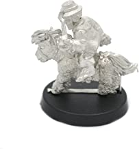Stonehaven Halfling Wool Merchant Mounted on Pony Miniature Figure (for 28mm Scale Table Top War Games) - Made in USA
