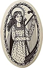 St Cecilia Porcelain Oval Medal on Continuous Braided Cord | Patron Saint of Musicians and Singers