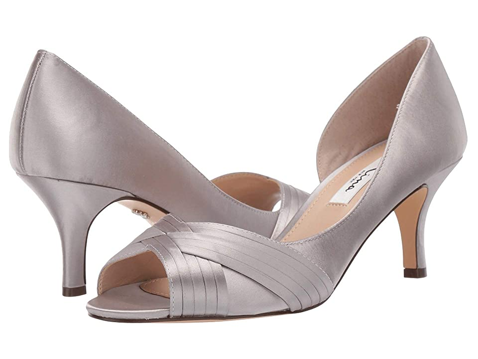 Nina Contesa (Silver Luster Satin) High Heels