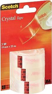 Scotch Kristallen tape - 3 rollen - 19 mm x 25 m - Glanzende transparante tape voor school, thuis en op kantoor