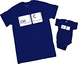 Copy Paste T-Shirt. Ctrl C Ctrl V T-Shirt. Fathers Day Baby Body Suit. Navy