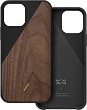 Native Union Clic Wooden Case – Crafted with Genuine American Walnut Wood – Slim & Lightweight Cover – Unique Natural Wood...