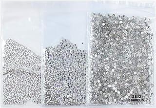 4320 قطعة من أحجار الراين الشفافة والكريستال المستوي من الأحجار الكريمة والزجاج لتزيين الأظافر والحرف والأحذية مكياج العين...