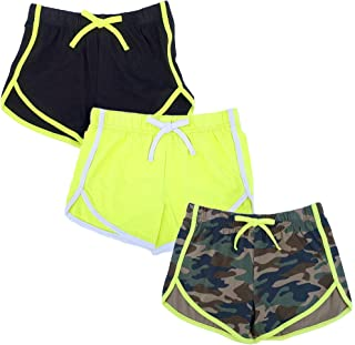 Girls 3 Pack Dolphin Shorts Workout and Fashion Solid and...