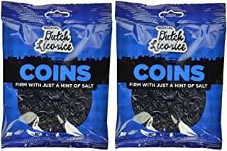 Gustaf's Dutch Licorice Coins, 5.2-Ounce Bags (Pack of 2)