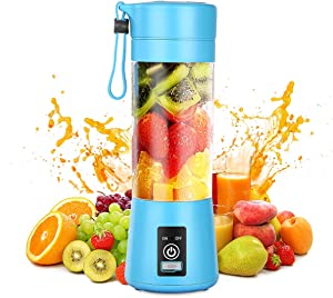 Gracejoful Portable Blender,Personal Blender,Smoothies Mini Jucier Cup USB Rechargeable and Personal Size Blender Shakes,380ml,Fruit Juice,Mixer